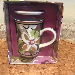 Vera Bradley Porcelain Mug and Cover - NWOT